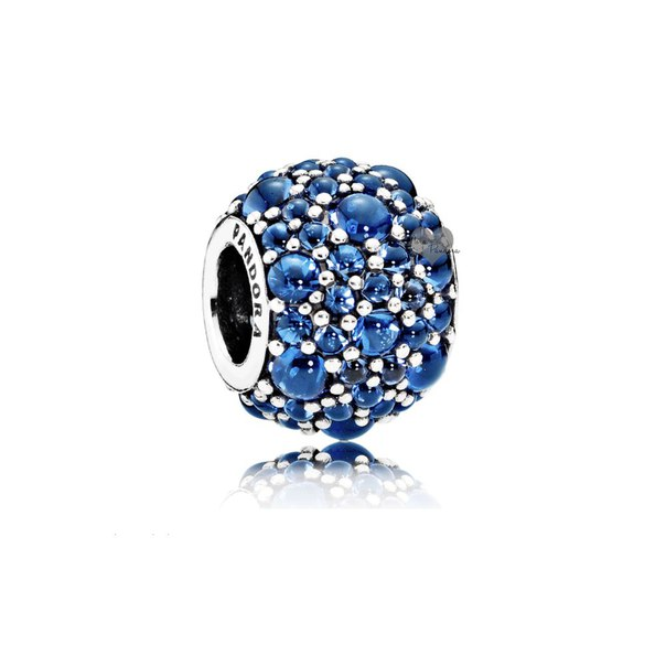 Шарм «Синие искристые капли»
