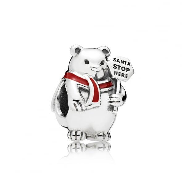 """Шарм """"Рождественский белый медведь"""""""