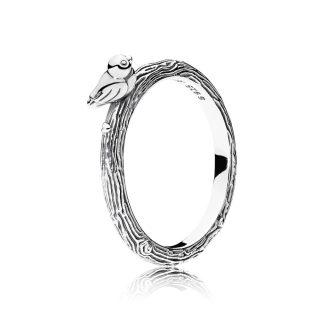 Кольцо «Птичка на ветке»
