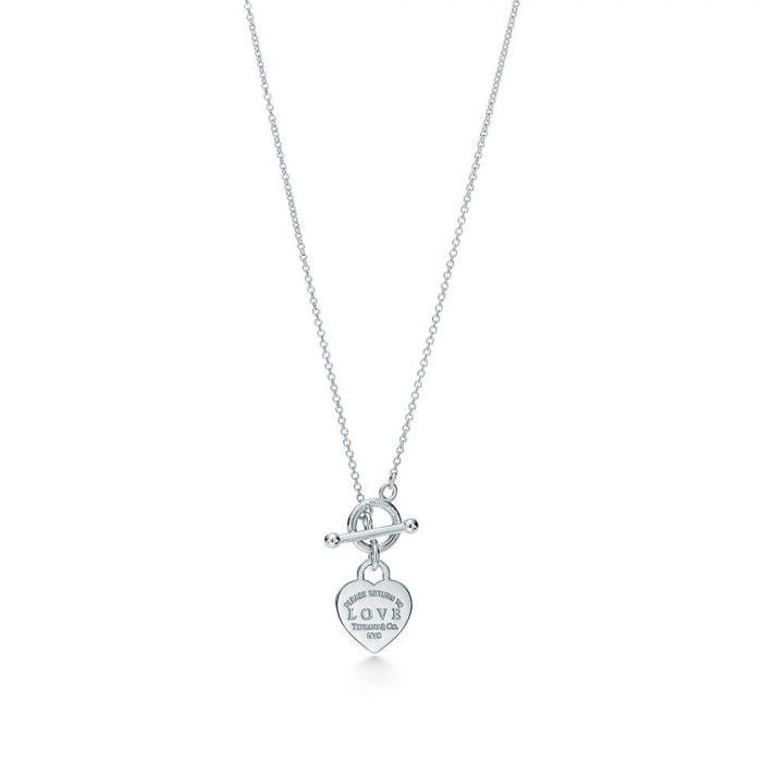 Колье с подвеской Love в форме сердца с оригинальным замком Tiffany