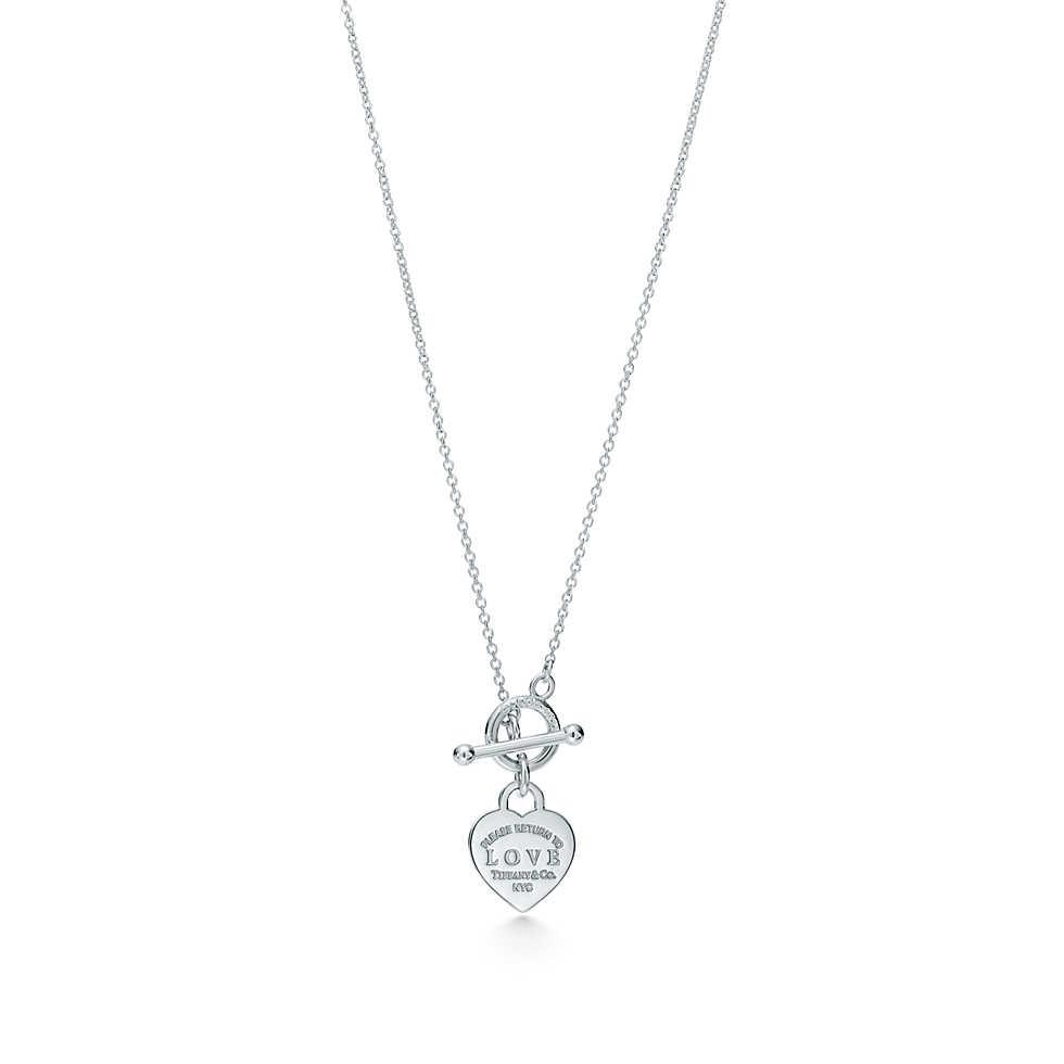 Подвеска Love в форме сердца с оригинальным замком Tiffany
