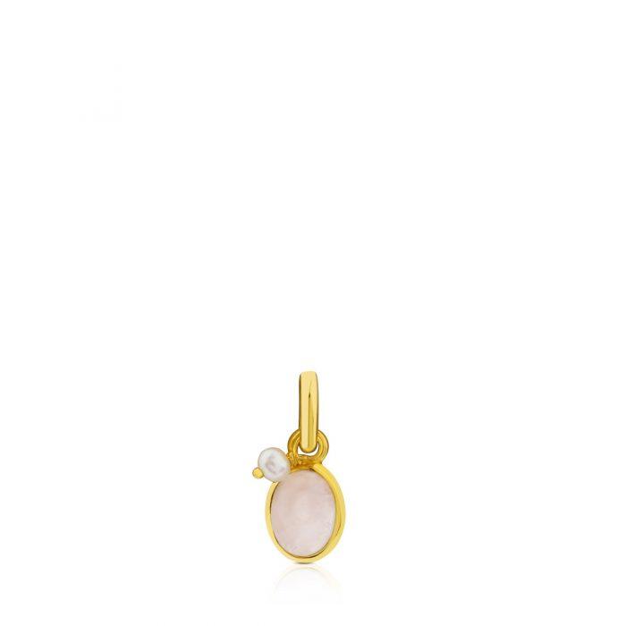 Кулон Camille с розовым кварцем и жемчугом TOUS