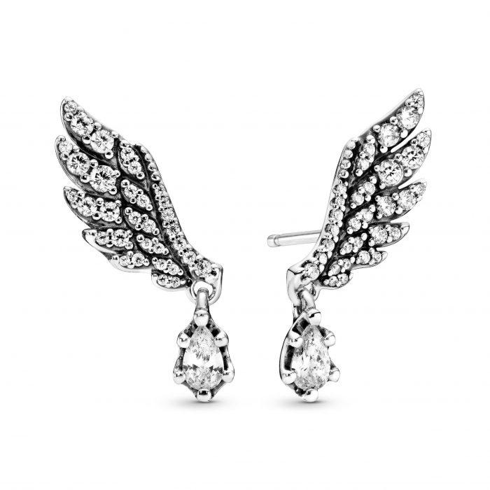 """Серьги """"Сверкающие крылья ангела"""""""