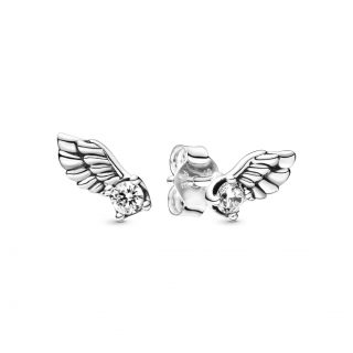 "Серьги Pandora ""Крылья ангела"""