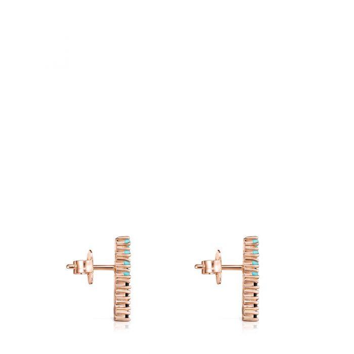 Серьги Straight с розовым покрытием Vermeil TOUS