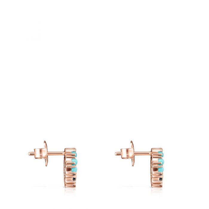 Серьги Straight mini с розовым покрытием Vermeil TOUS