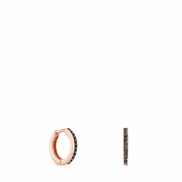 Серьги Mofit с розовым покрытием Vermeil TOUS и шпинелями