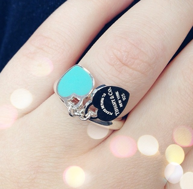 Кольцо Double hearts Tiffany
