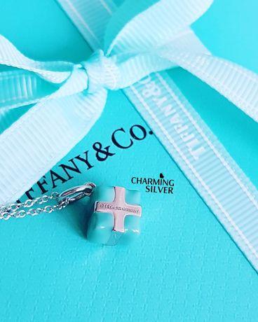 Колье в виде коробочки Blue Box Tiffany