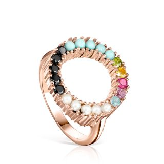 Кольцо Straight с розовым покрытием Vermeil TOUS