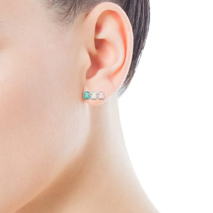 Серьги Mini Color TOUS с драгоценными камнями