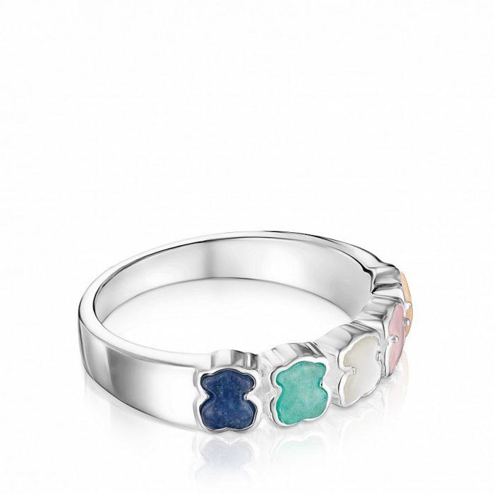 Кольцо Mini Color TOUS с драгоценными камнями