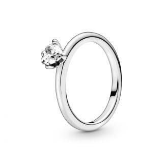 """Кольцо Pandora """"Прозрачное сердце"""""""