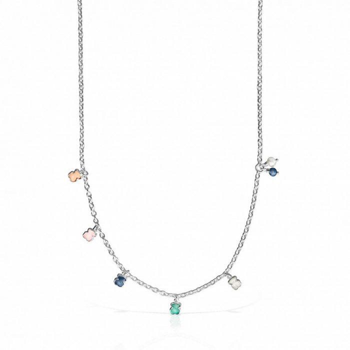 Колье Mini Color TOUS с драгоценными камнями
