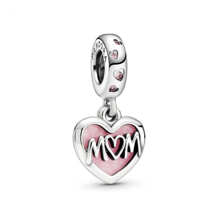 """Подвеска Pandora """"Расписное сердце мамы"""""""