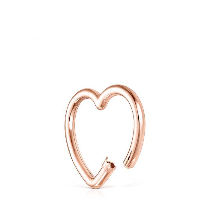 Большой кулон сердце Hold TOUS с розовым покрытием Vermeil