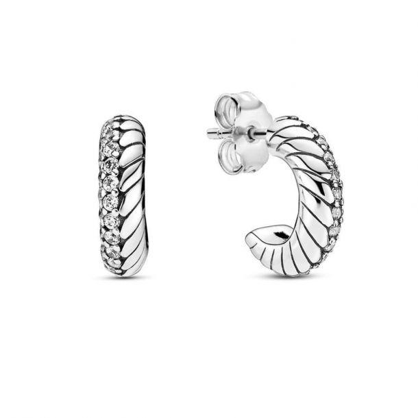 Серьги Pandora с цепочным орнаментом