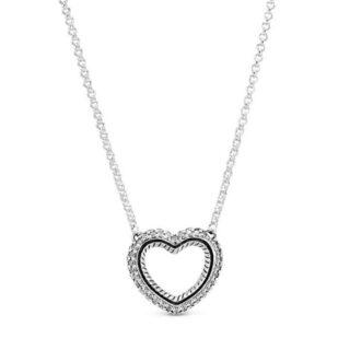 """Колье Pandora """"Сердце с цепочным орнаментом"""""""