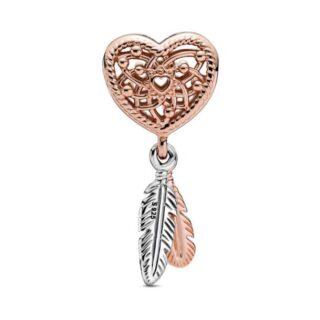 """Шарм Pandora Rose""""Ловец снов в форме сердца"""""""