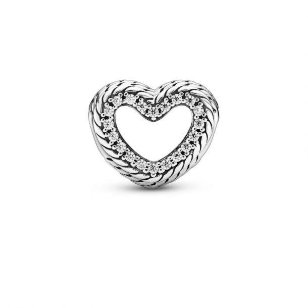 """Шарм Pandora """"Сердце с цепочным орнаментом"""""""