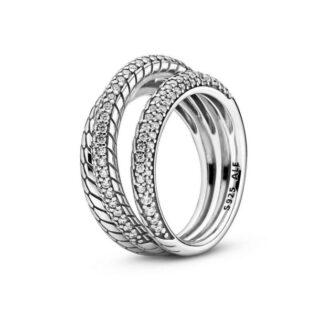 Кольцо Pandora с цепочным орнаментом