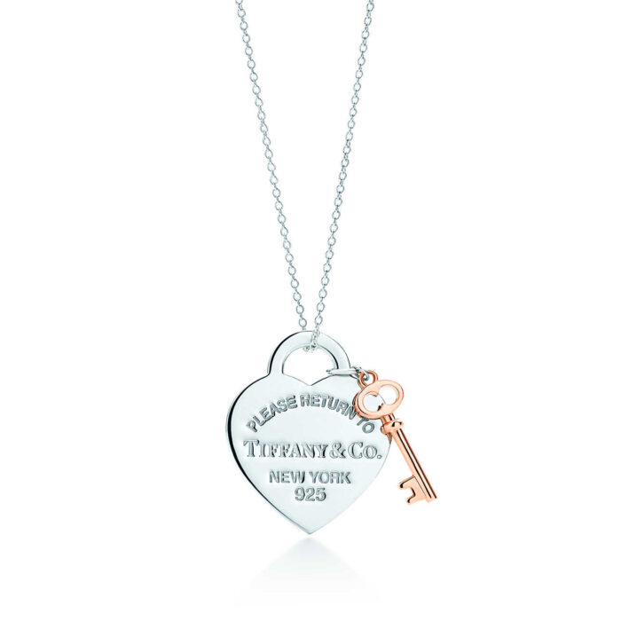 Колье с подвеской в форме сердца и ключом Tiffany