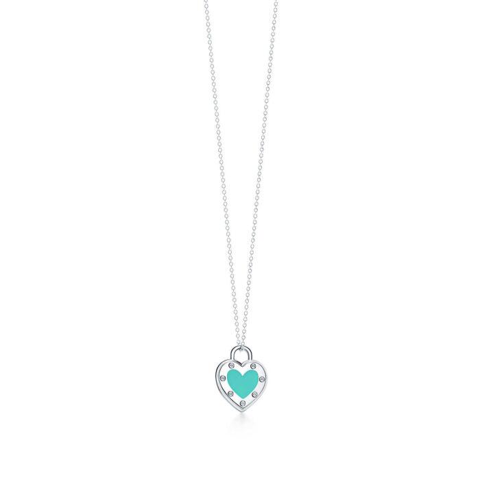 Колье с подвеской Love в форме сердца Tiffany