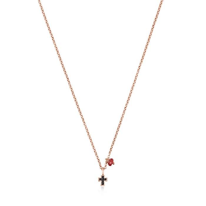 Колье с крестиком Motif TOUS со шпинелями арт: 914932510