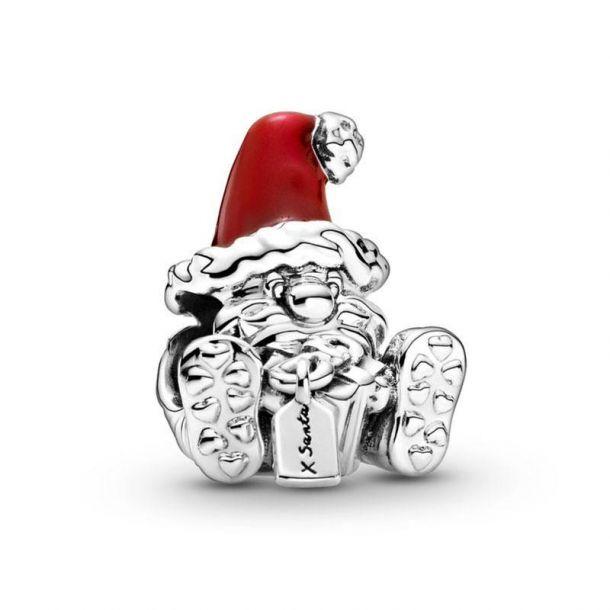 "Шарм Pandora ""Санта Клаус с подарком"""