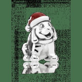 """Шарм Pandora """"Рождественский щенок"""""""