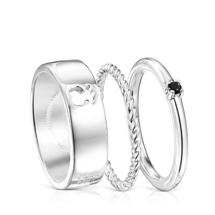 Сет из трёх колец Ring Mix TOUS арт: 018165501