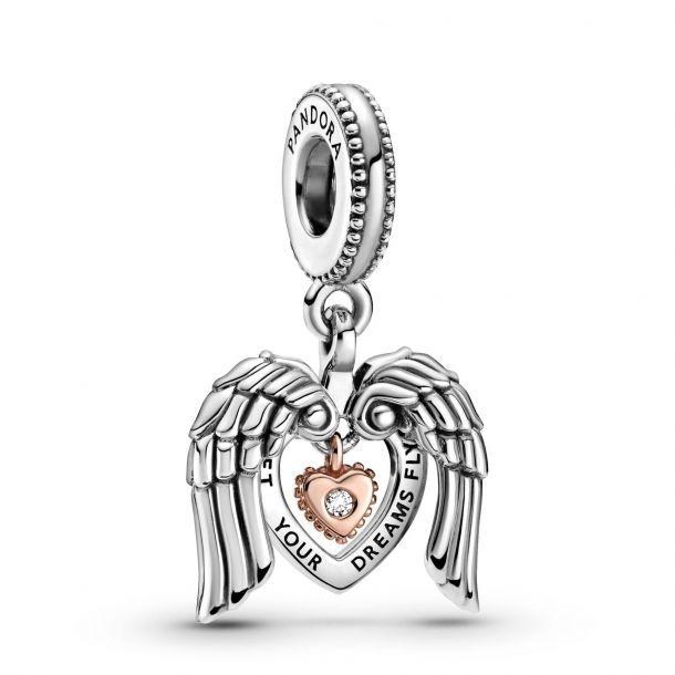 """Подвеска Pandora """"Сердце с крыльями ангела"""""""