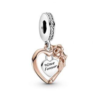 """Подвеска Pandora """"Сердце и роза"""""""