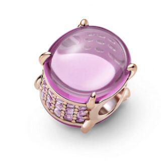 """Шарм Pandora """"Розовый овальный кабошон"""""""
