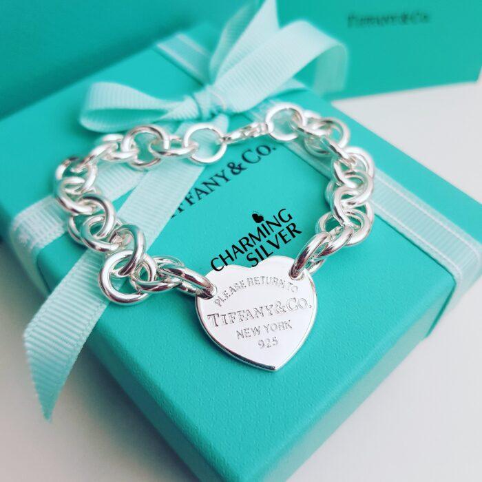 Браслет с подвеской в форме сердца Tiffany