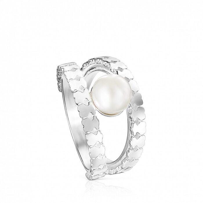 Кольцо Straight TOUS с жемчугом арт: 11272555