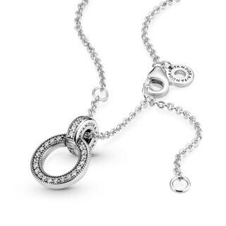 """Колье Pandora """"Двойное кольцо Pandora"""" арт: 399487C01"""