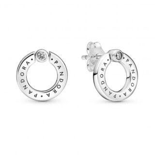 """Серьги Pandora """"Кольца с логотипом"""" арт: 299486C01"""