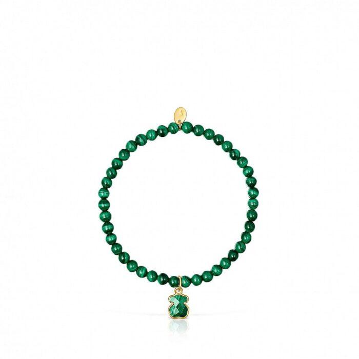 Эластичный браслет Icon Color TOUS с малахитом арт: 015431600